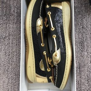 Sperry Top-Sider Angelfish Black/Gold Size 7M